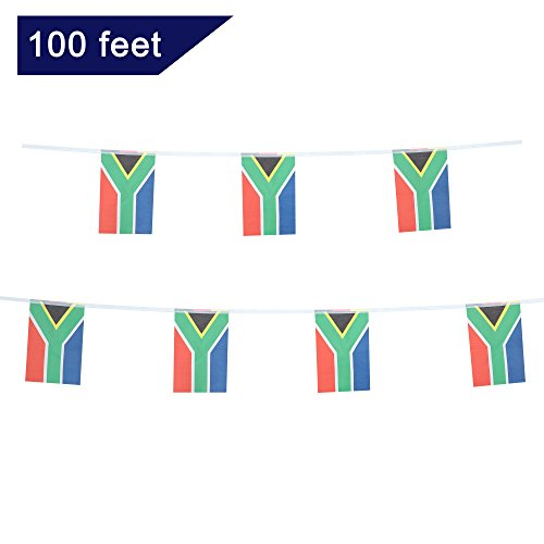 Africa Flags - TSMD South Africa Flag, 100 Feet South African Flag National Country World Pennant Flags Banner,Party Decorations For Grand Opening,Olympics,Bar,World Cup,School Sports Events,International Festival