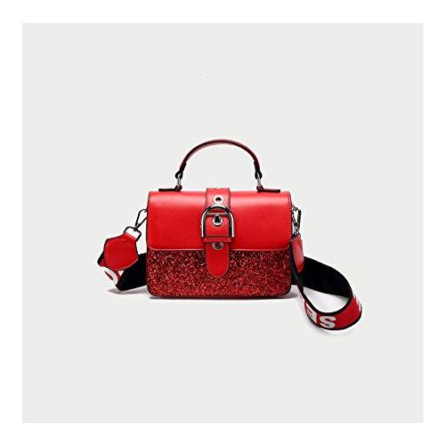 a pelle la joker gules semplice sesso unica femminile ZHANGJIA rosa borsa di borsa borsa di spalla vintage borsa xwZ0qn7SpH