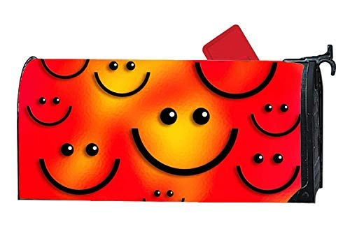 (Tollyee Decorative Mailbox Makeover Cover Smile Garden Mailbox Cover Magnetic Mailbox Cover 9