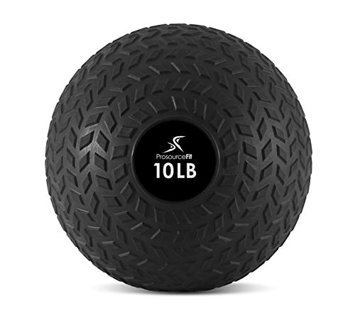 ProSource fit Slam Medicine Balls 50 Lbs Tread Textured Grip Dead Weight Balls for Crossfit, Strength & Conditioning Exercises, Cardio & Core Workouts,10lb