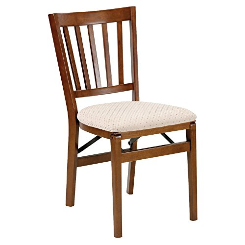 Stakmore Schoolhouse Upholstered Folding Chair - Set of 2