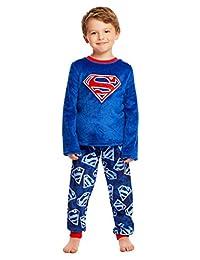 Superman Boys Sleepwear - Fleece Kids 2-Piece Pajama Set