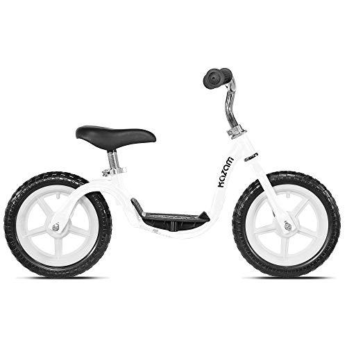KaZAM Tyro V2E Adjustable Step-Through Learning Balance Bike for Kids, White