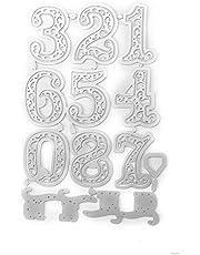 Winbang Troquelado, Troquelado de metal Plantilla Scrapbooking Grabado en relieve Tarjeta Craft (Número)