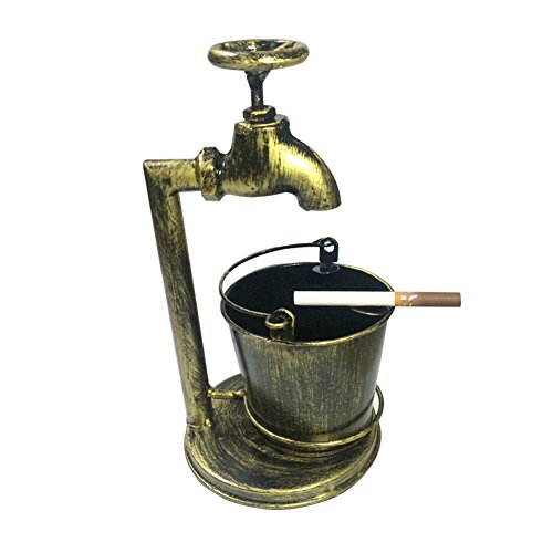 Retro Decoration Accents Cigarettes Cigars Bionic Design Faucet Bucket Ashtray Suit For Home Bar Office Or Use For Brush Pot Storage Containers (Old Cigarette Holders)