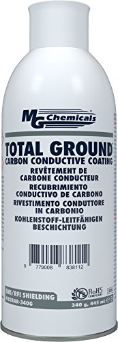 MG Chemicals Total Ground Carbon Conductive Coating, 12 oz, Aerosol Can