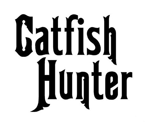 Catfish Hunter Fishing Decal Sticker, Die cut vinyl decal for windows, cars, trucks, tool boxes, laptops, MacBook - virtually any hard, smooth surface
