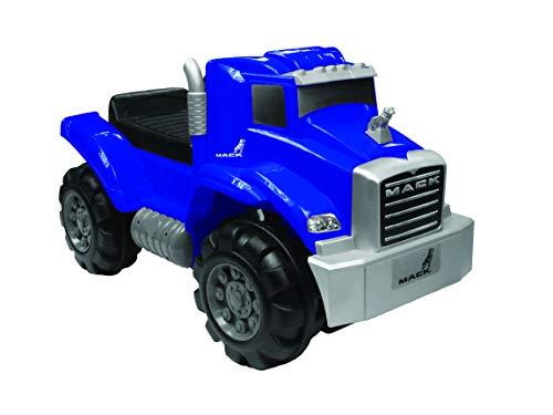 Wonderlanes Ride On Mack Truck Foot to Floor in Blue