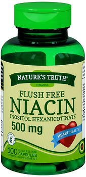 Nature's Truth Flush Free Niacin Inositol Hexanicotinate 500 mg Quick Release Capsules- 100 ct, Pack of 6 by Nature's Truth