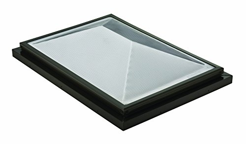 Sunoptics SUN R2030 DHPL TGZ 50CC2 800MD BZ 2-Feet by 3-Feet Triple Glazed Fixed Curb-Mounted Prismatic Double Hip Skylight, Bronze