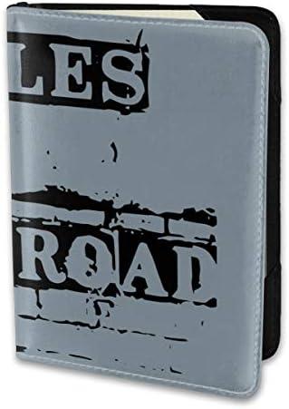 BEATLES ビートルズ - ABBEY ROAD SIGN パスポートケース メンズ 男女兼用 パスポートカバー パスポート用カバー パスポートバッグ 小型 携帯便利 シンプル ポーチ 5.5インチ高級PUレザー 家族 国内海外旅行用品