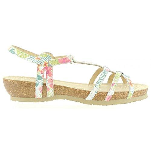 Sandalias de Mujer PANAMA JACK DORI TROPICAL B4 NAPA BLANCO