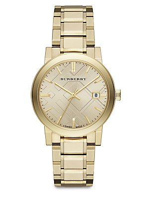 Burberry-The-City-Champagne-Dial-Gold-tone-UnisexWatch-BU9033