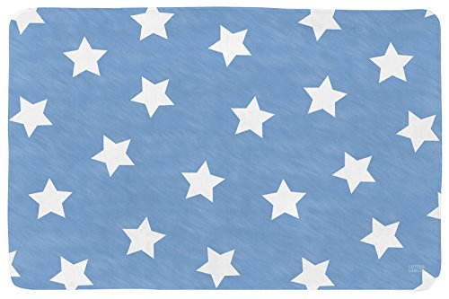Lottas Lable 65003-8 Kinderzimmer Teppich Softie Stern Jeansblau 130 x 190 cm