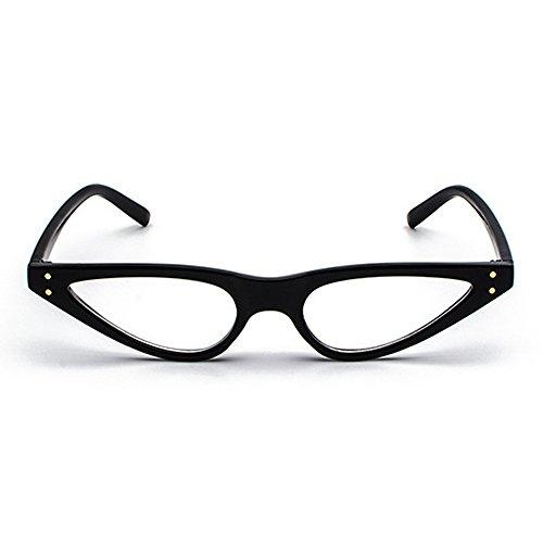 400UV Cat Retro Shades Triangle Narrow Eye Sunglasses Women Black Femal Skinny Small Frame Sunglasses zwTFqAAa