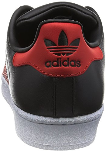 Adidas Superstar Schuhe core black-collegiate red-collegiate red - 40 2/3