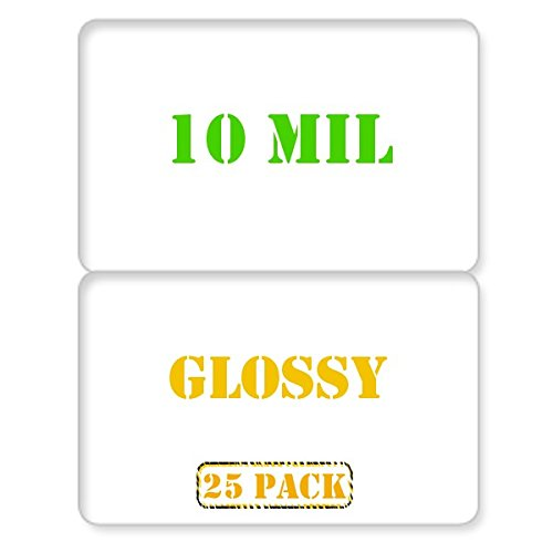 25 x Glossy Butterfly Laminating Pouch - 10 mil - for CR80 Standard Size IDs