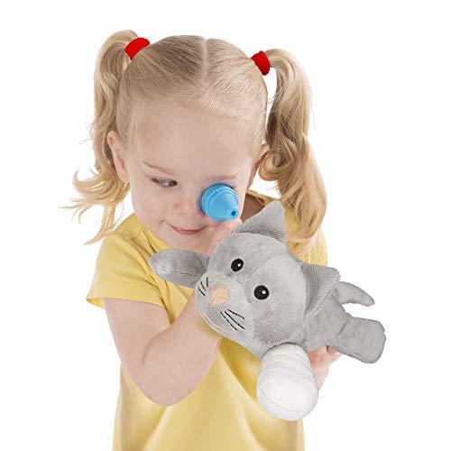 "41Zp8wxQreL - Melissa & Doug Examine & Treat Pet Vet Play Set (Animal & People Play Sets, Helps Children Develop Empathy, 24 Pieces, 10.5"" H x 13.5"" W x 3.5"" L)"