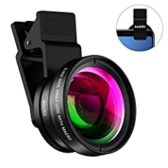★Aubllo 2 in 1 Professional HD Cell Phone Camera Lens Kit Let you discover more beauty!  When your friends gather together or family reunion wants to take a group photo, or when shooting a landscape, the scenery that your phone may capture is...
