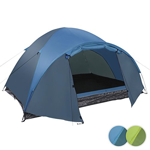 Tunnelzelt Familienzelt Campingzelt Hauszelt für 3 Personen inkl. Zubehör in 2 verschiedenen Farben