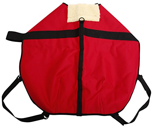 All Seasons Sherpa Coat Vest for Dogs with Velcro Strap for Large Dogs (Large - Red) by All Seasons Products, Inc. (Image #3)