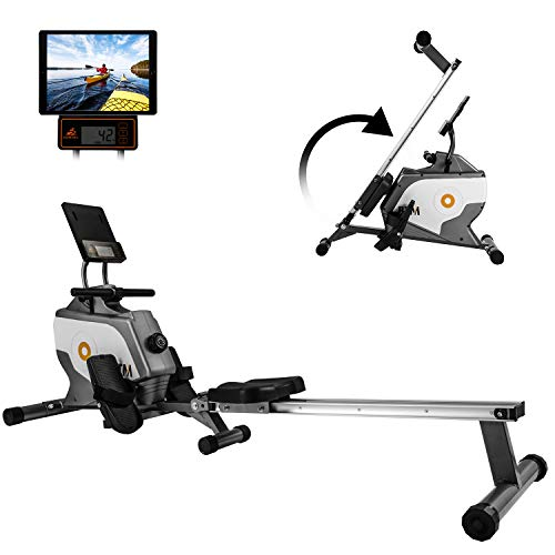 MIERES Unisex-Youth 2019 Model Rowing Machine Fitness Cardio Workout with...
