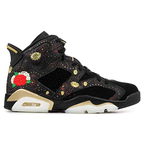 Jordan Nike Men's Air 6 Retro CNY Black/Metallic Gold AA2492-021 (Size: 14) by Jordan