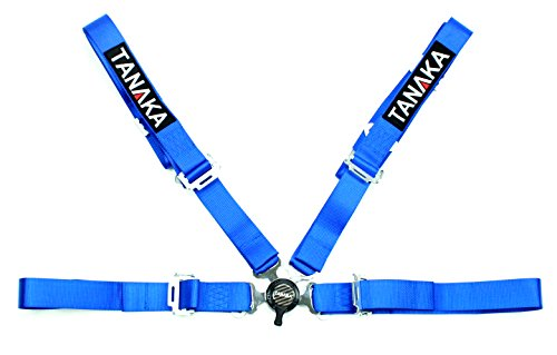 Tanaka 4-point Camlock Racing Harness Seat Belt One Set (for one seat) (Blue) (Four Point Harness)