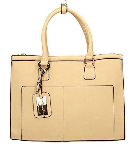 Bag City Bag Cosmo Shoulder SWANKYSWANS Business Naples Womens Beige Work 4w0Unq7vX