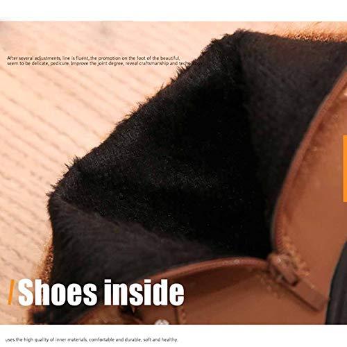 Zip Classico Stivaletti Alto Donna Nera Moda Tacco Scarpe Inverno Bianca Con Punta A Autunno Black E 8Yv8qxwCE