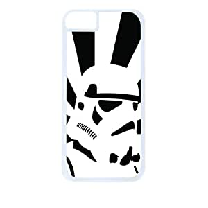Storm Trooper-Black and White-Hard White Plastic Snap - On Case-Apple Iphone 5C Only - Great Quality!