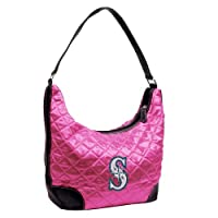 MLB Seattle Mariners Pink Quilted Hobo