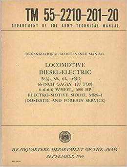 Operator's manual standard 1600-hp all-service diesel-electric.