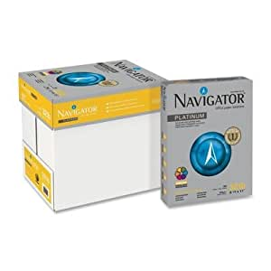 Navigatoramp;reg; Platinum Office Paper, 99 Brightness, 32lb, Letter, White, 2,000 Sheets
