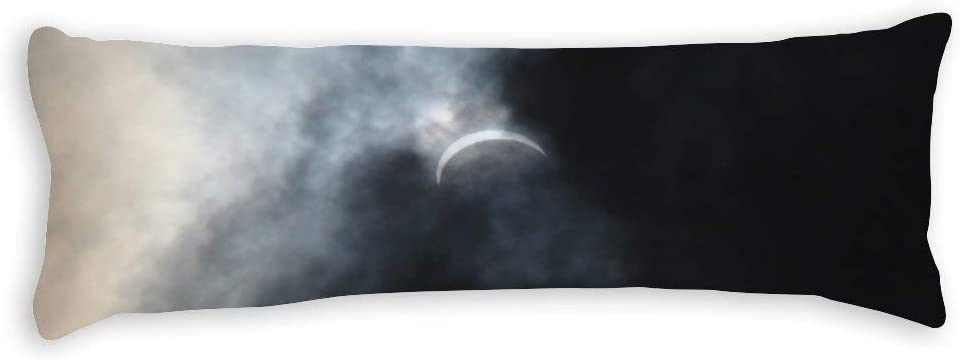 """Tamengi Body Pillowcase, Spooky Eclipse Storm Clouds Extra Long Body Pillow Covers Cases 20""""x59"""" with Zipper Closure,Bedding Bedroom Decor Home Gift"""