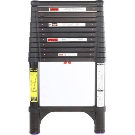 Telesteps 1600ET OSHA Compliant 16 ft Reach Black Tactical Telescoping Extension Ladder