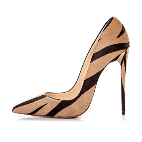 Fsj Vrouwen Sexy Luipaard Gedrukte Kleding Schoenen Puntige Teen Hoge Hakken Stiletto Pumps Size 4-15 Ons Lijnen