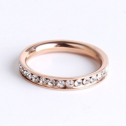 4mm tungsten wedding bands will queen rose gold engagement rings for her a circle of sparkly diamonds amazoncom - Gold Wedding Rings For Her