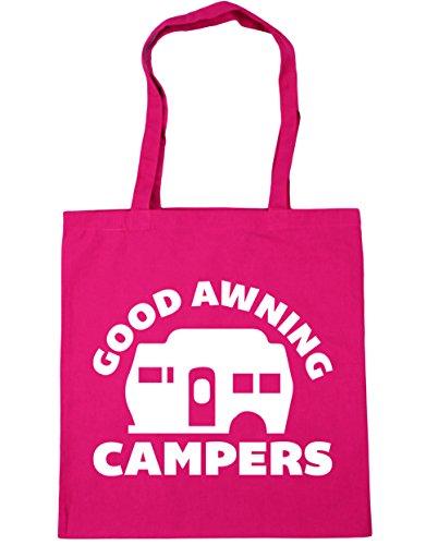 HippoWarehouse Good Markise Campers Einkaufstasche Fitnessstudio Strandtasche 42cm x38cm, 10 liter - Baumwolle, Fuchsia, 100% baumwolle 100% baumwolle, Damen, One size