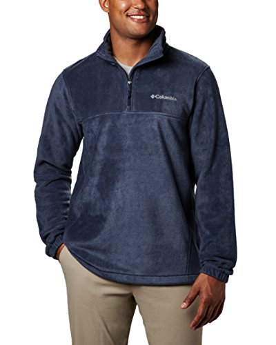 Columbia Men's Steens Mountain Half Zip Soft Fleece Jacket, Collegiate Navy, - Columbia Blue Jacket Men