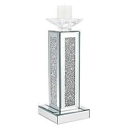 Tall Crush Diamonds Pillar Candle Holder