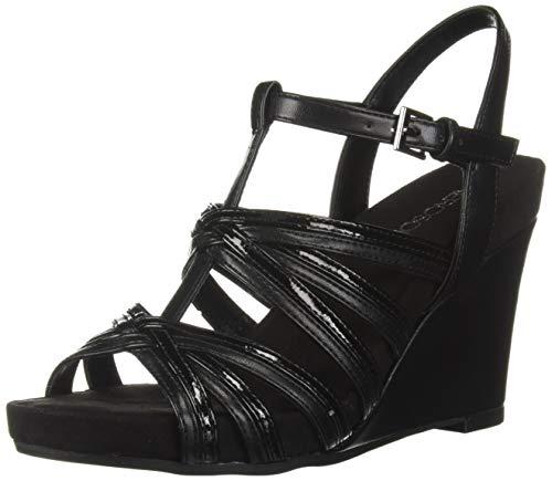 ght Plush Sandal, Black, 9.5 M US ()