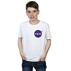 Nasa-nios-Classic-Insignia-Pocket-Logo-Camiseta es