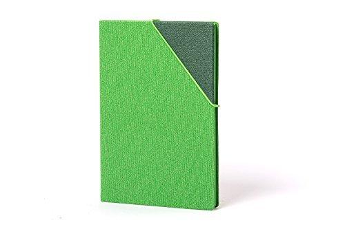 iZERCASE Papacasso Macaw Premium Hardcover Classic Notebook with Elastic Closure – Plain (GREEN)