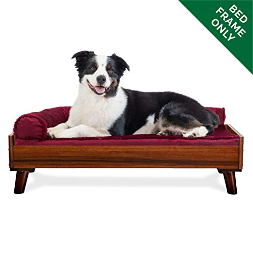 - FurHaven Pet Bed Frame | Bed Frame for Pet Beds & Mattresses, Walnut, Large