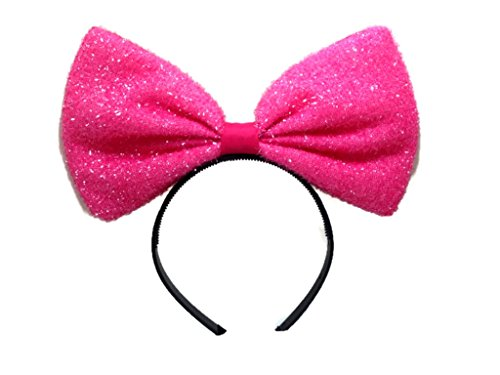 [Sparking Center Bow Headband: H2 (Sparking Pink2)] (Hello Kitty Ears)