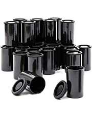 Empty Film Canisters with Caps,Black Plastic Film Canister Holder,10PCS