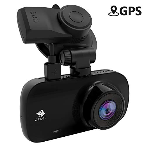 Dash Cam, Z-Edge Z3G Dashboard Camera for Cars 2.7 Inch 1440P 30fps Quad HD, GPS, Low Light Vision, Parking Mode, G-Sensor, Support up to 128GB