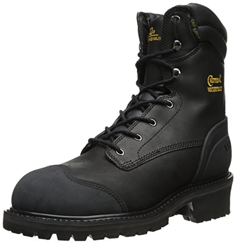 Chippewa Mens 8 Waterproof Insulated Comp Toe EH 55058 Logger Boot Black