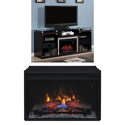 Espresso Electric Fireplace Package - 9